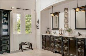 bathroom-cabinets-in- Dawsonville-ga-black-shiny-vanity