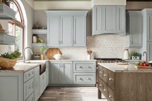 kitchen-remodel-in-Dawsonville-ga-kraftmaid-seafoam-blue-maple-cabinets-kitchen-island